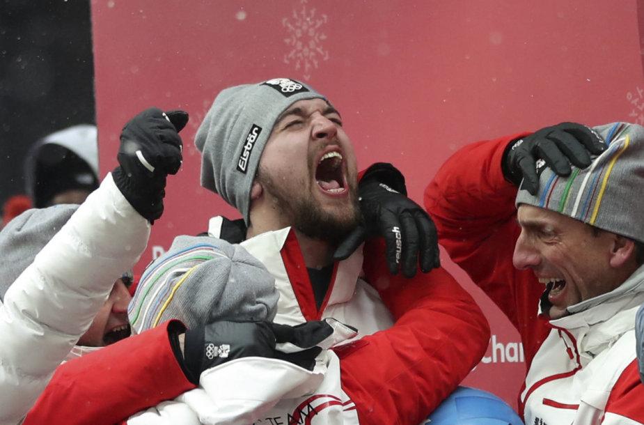Davidas Gleirscheris netikėtai laimėjo olimpinį aukso medalį.