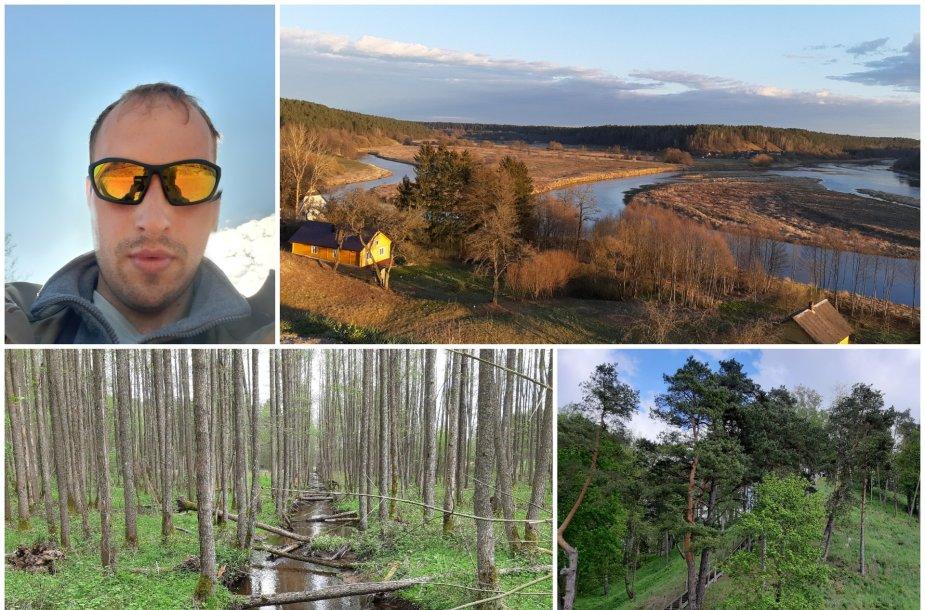 Audriaus karantino atostogos: 559 km pėsti Nemuno pakrante nuo Baltarusijos iki Kuršių marių