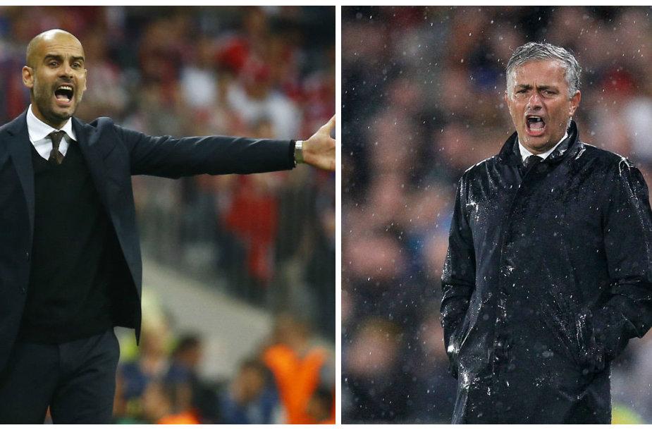 Josepas Guardiola ir Jose Mourinho