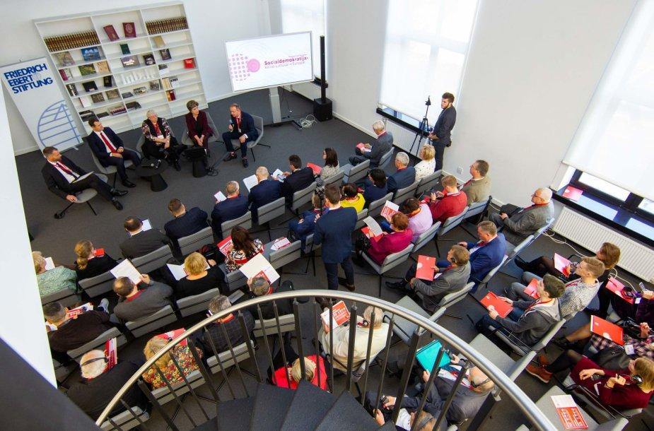 Vilniuje vyko tarptautinis Europos socialdemokratų forumas.