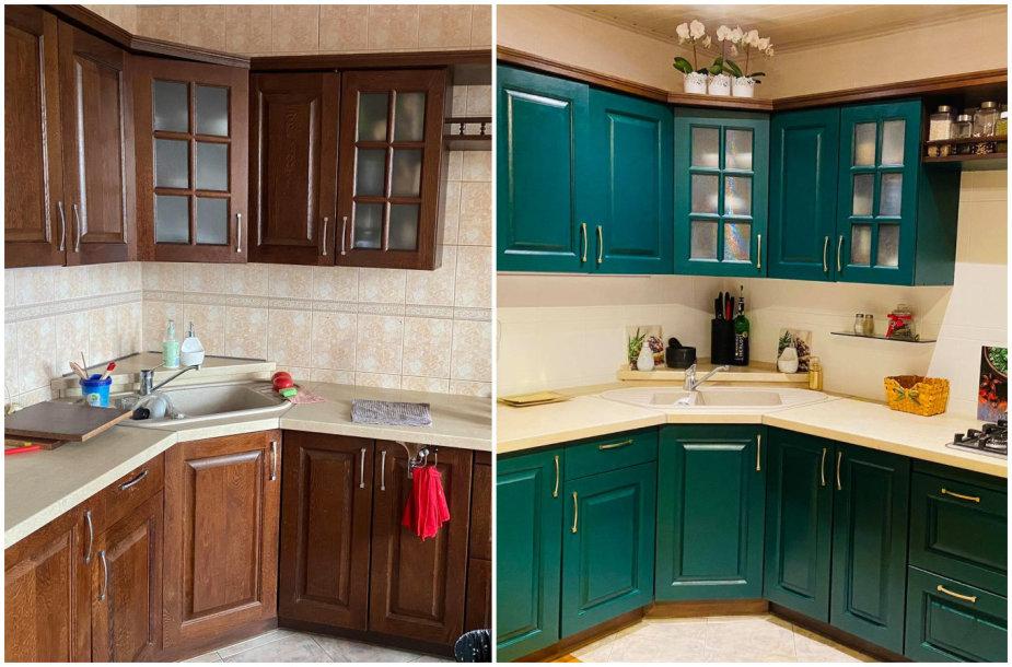 Dinaros virtuvė prieš atnaujinimą ir po jo