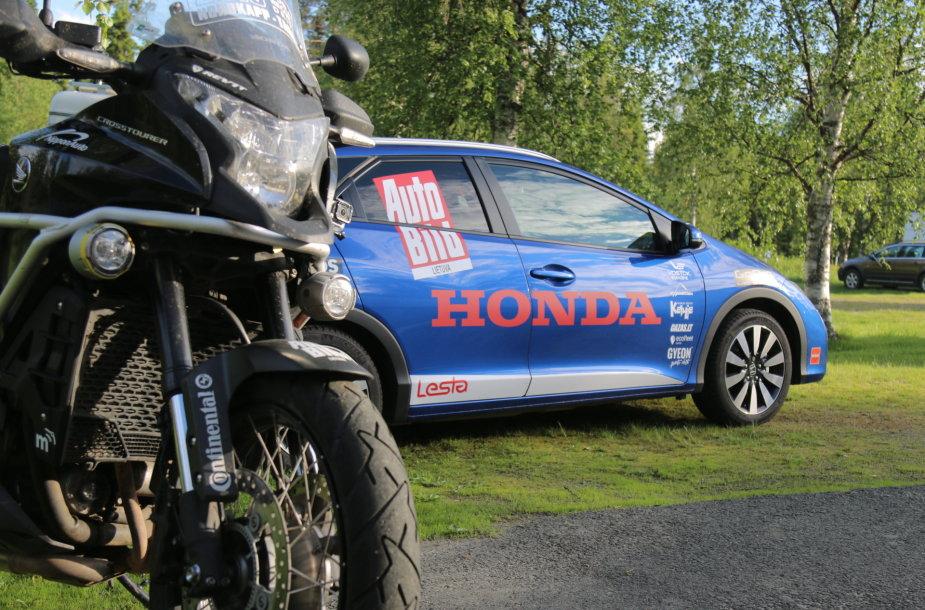 """""""Honda Civic"""" ir """"Honda Crosstourer"""""""