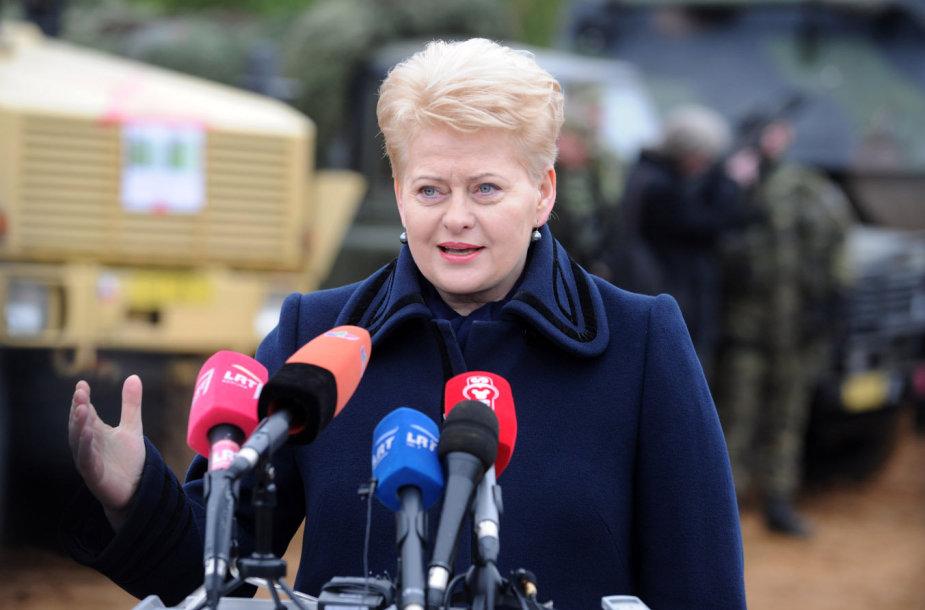 """Dalia Grybauskaitė NATO pratybose """"Geležinis kardas 2014"""""""