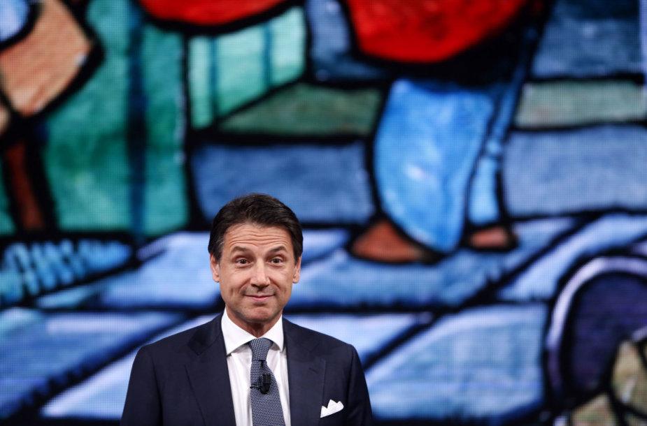 Italijos premjeras Giuseppe Conte