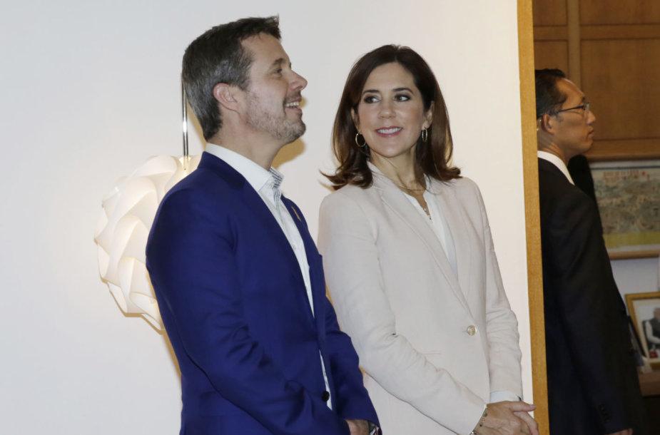 Princas Frederikas su princese Mary