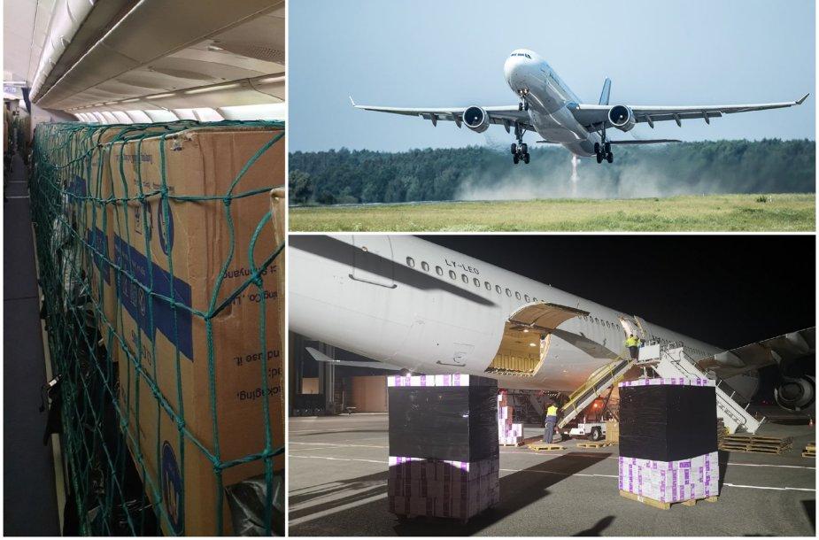 Lietuvos aviacijos milžino A330 kasdienybė: kėdėse – kroviniai