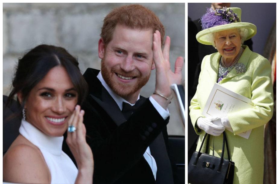 Princas Harry, Meghan Markle, Elizabeth II