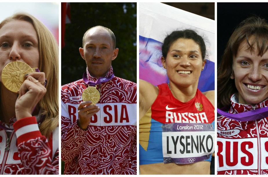Aukso medalių netekę Rusijos olimpiniai čempionai