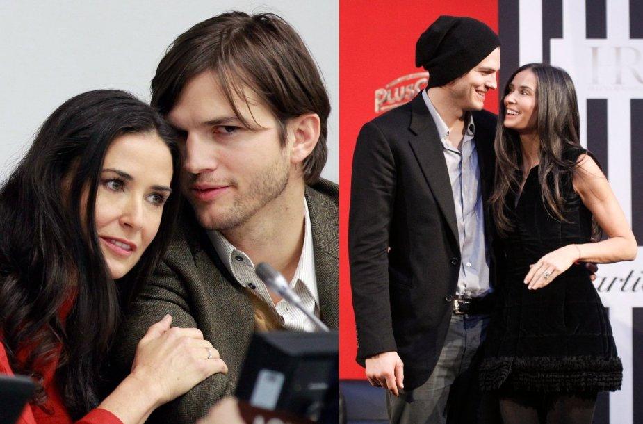 Ashtonas Kutcheris ir Demi Moore