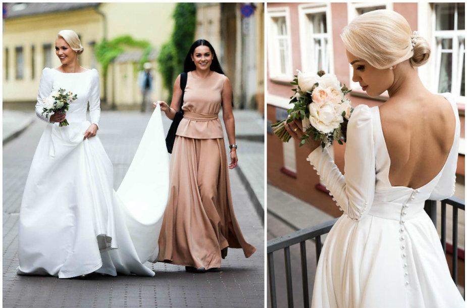 Viktorija Arlauskienė parduoda Simonos Nainės kurtą vestuvinę suknelę