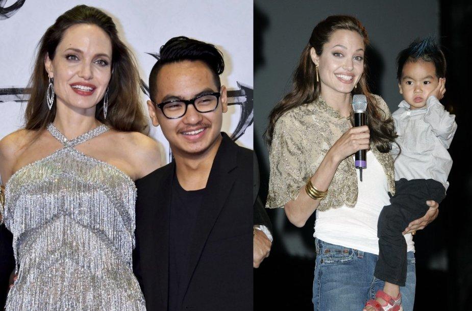 Angelina Jolie su sūnumi Maddoxu