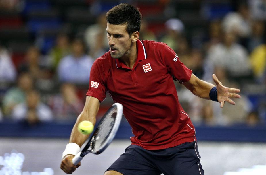 Novakas Džokovičius siekia trečio Šanchajaus čempiono titulo iš eilės