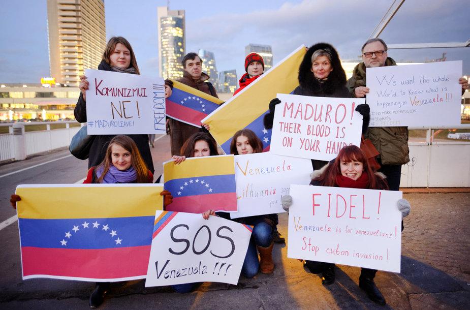 Vilniuje surengta Venesuelos palaikymo akcija
