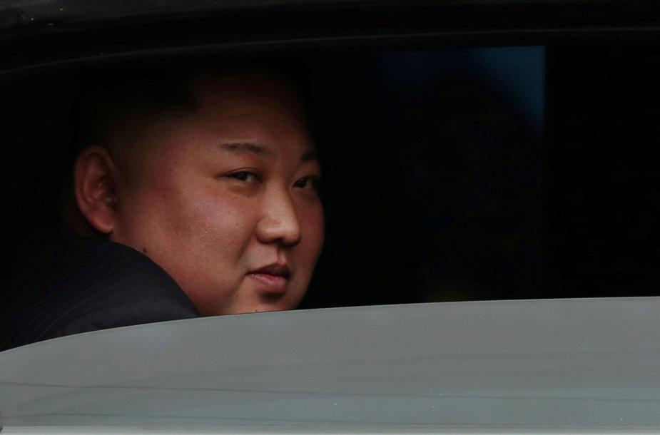 Šiaurės Korėjos lyderis Kim Jong Unas Vietname