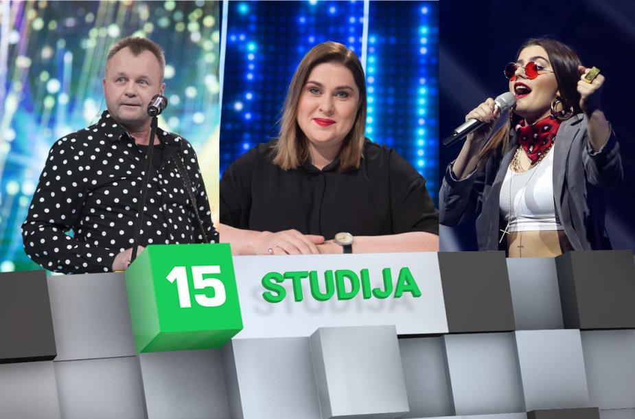 15min studijoje — Saulius Urbonavičius-Samas, Dovilė Filmanavičiūtė ir Kotryna Juodzevičiūtė