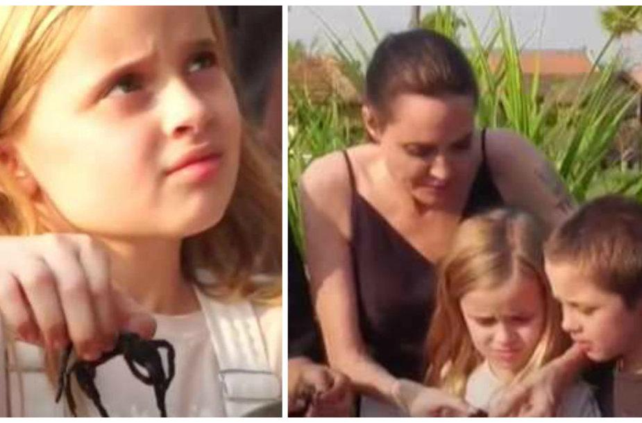 Kambodžoje Angelina Jolie su vaikais skanavo vietinių delikatesų – vabzdžių, vorų ir skorpionų