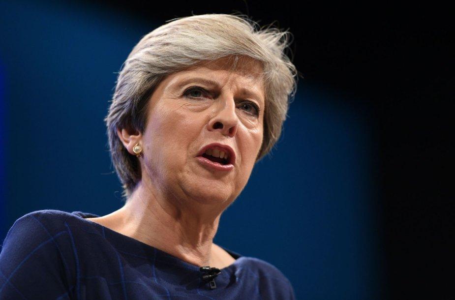 Theresa May Konservatorių partijos suvažiavime