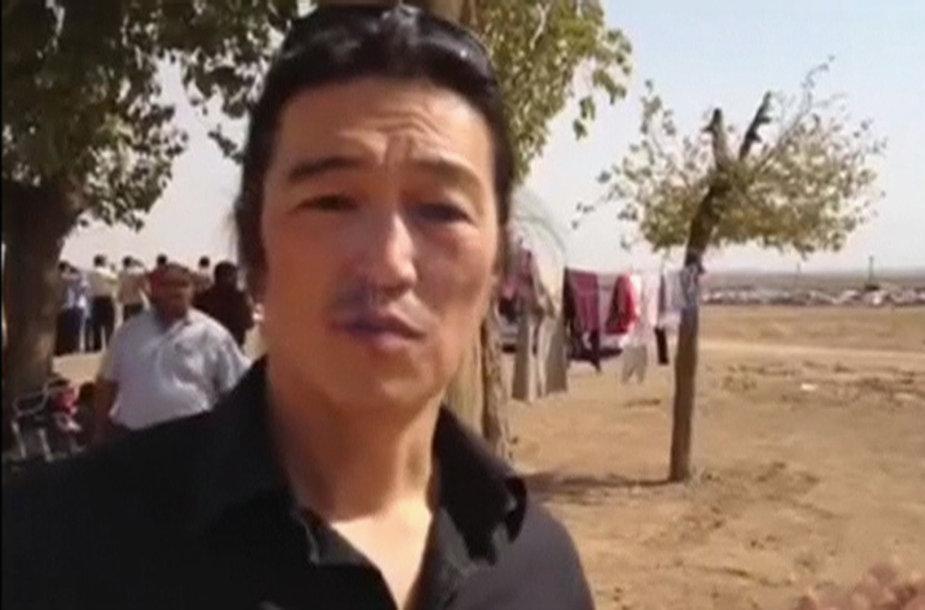 Japonija gedi džihadistų nužudyto žurnalisto Kenji Goto.