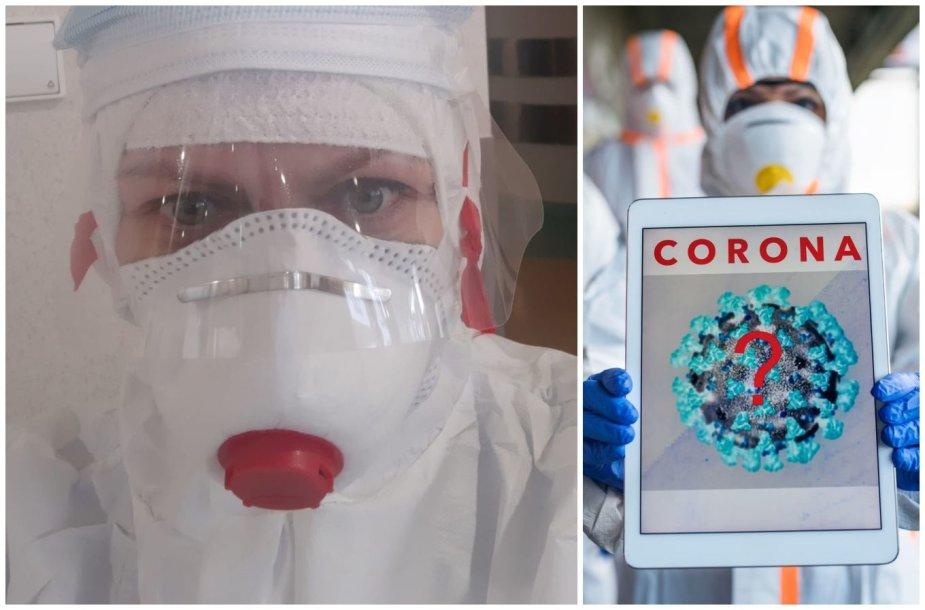 Slaugytoja Vera, dirbanti su koronavirusu užsikrėtusiais pacientais