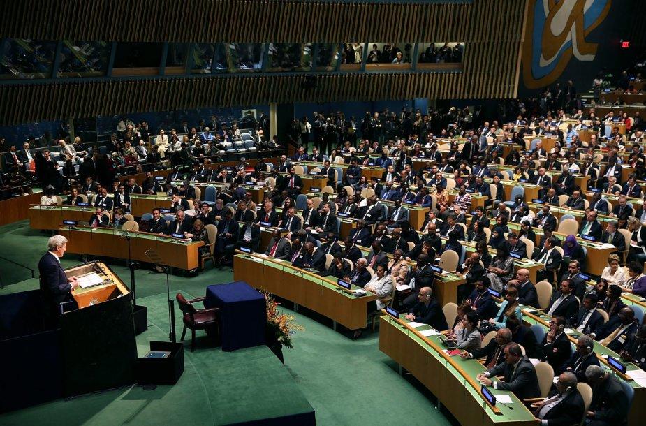 Klimato kaitos susitarimo pasirašymo ceremonija
