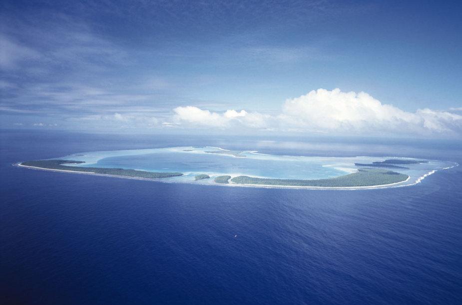 Tetiaroa sala iš viršaus