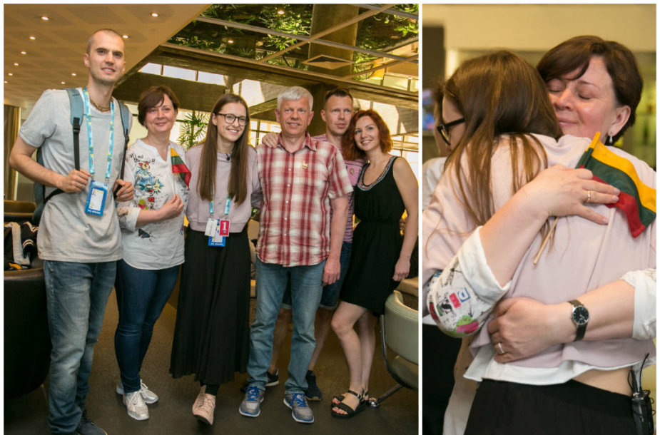 Ieva Zasimauskaitė ir Marius Kiltinavičius, Ievos tėvai Audronė ir Darius bei dėdė Mantas su žmona Diana