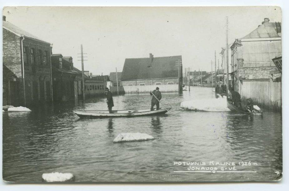 Potvynis Kaune 1926 m.