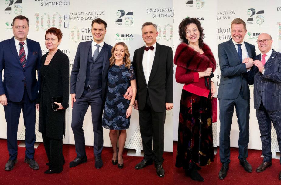 Nemira Pumprickaitė, Domas Dargis su žmona Gintare, Robertas Dargis, Judita Leitaitė, Remigijus Šimašius ir Visvaldas Matijošaitis