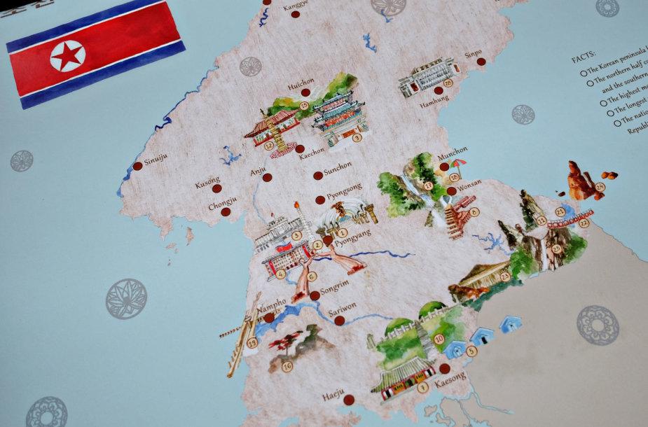 Žemėlapio misija Šiaurės Korėjoje