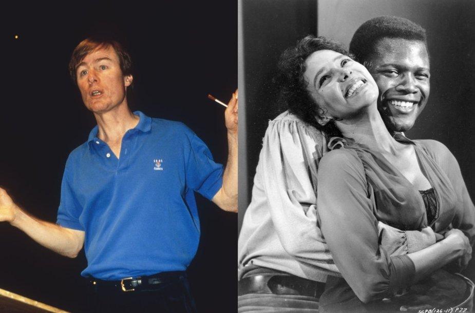 """Dirigentas Deividas Robertsonas ir Samuelio Goldwyno filmo """"Porgis ir Besė"""" kadras"""