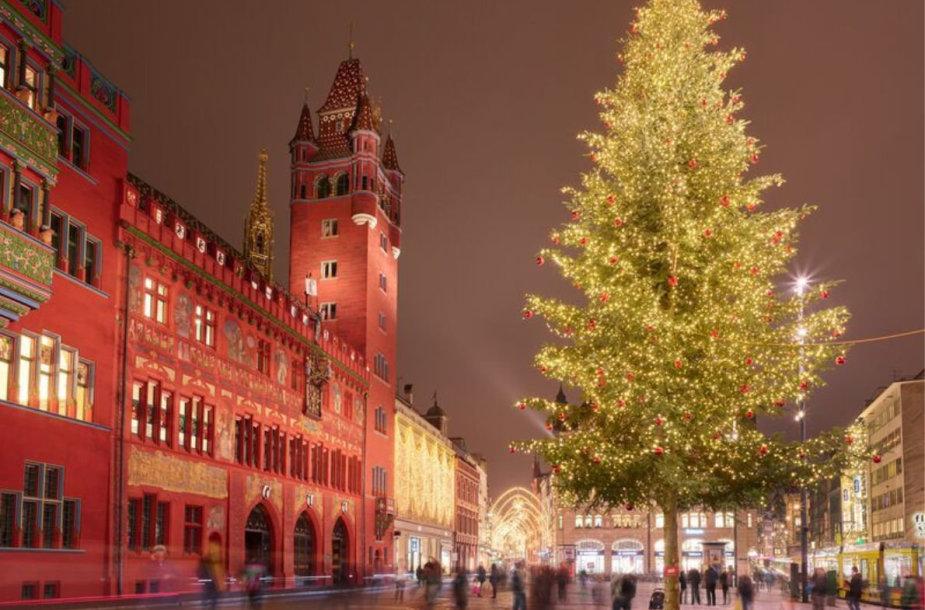 Kalėdų eglė Bazelyje