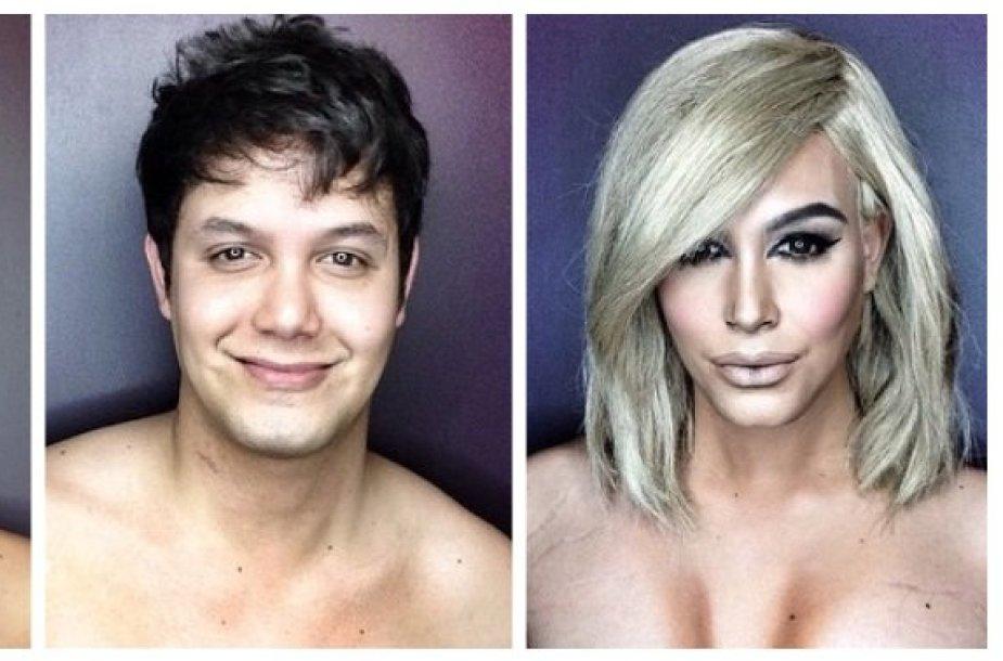 Į Dakotą Johnson ir Kim Kardashian persikūnijęs vizažistas Paolo Ballesterosas