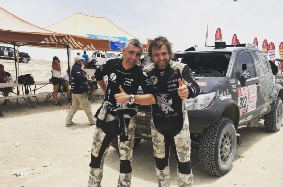 Sebastianas Rozwadowskis ir Benediktas Vanagas po antrosios dienos finišo