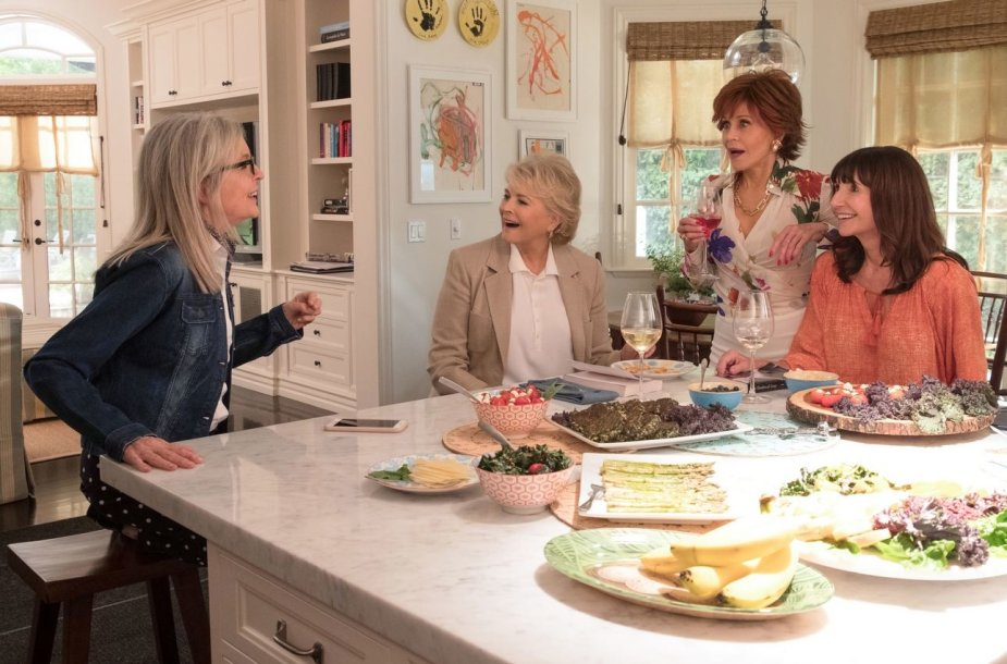 "Diane Keaton, Candice Bergen, Jane Fonda ir Mary Steenburgen komedijoje ""Knygų klubas"""