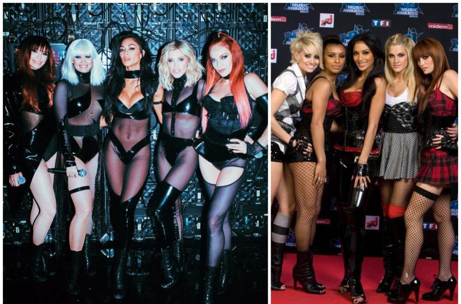 "Merginų grupė ""The Pussycat Dolls"" dabar ir 2009-aisiais"