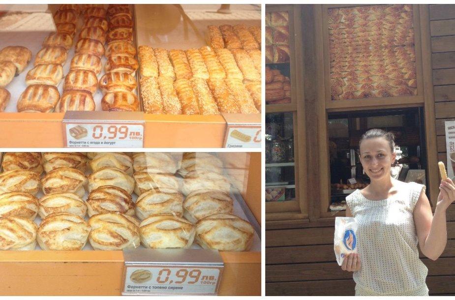 Traškūs ir pigūs fornečiai: 100 g mažų lengvų pyragėlių kainuoja 0,99 levo.