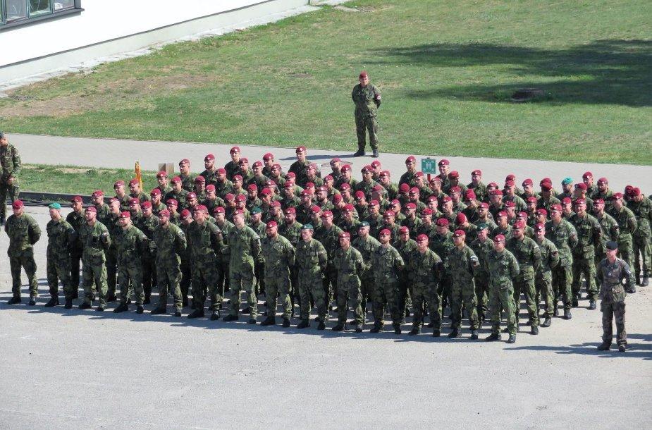 Čekijos karių inauguracijos ceremonija NATO priešakinių pajėgų batalione Rukloje
