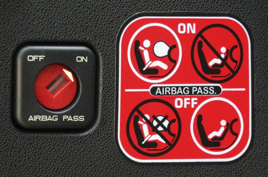SRS saugos oro pagalvė