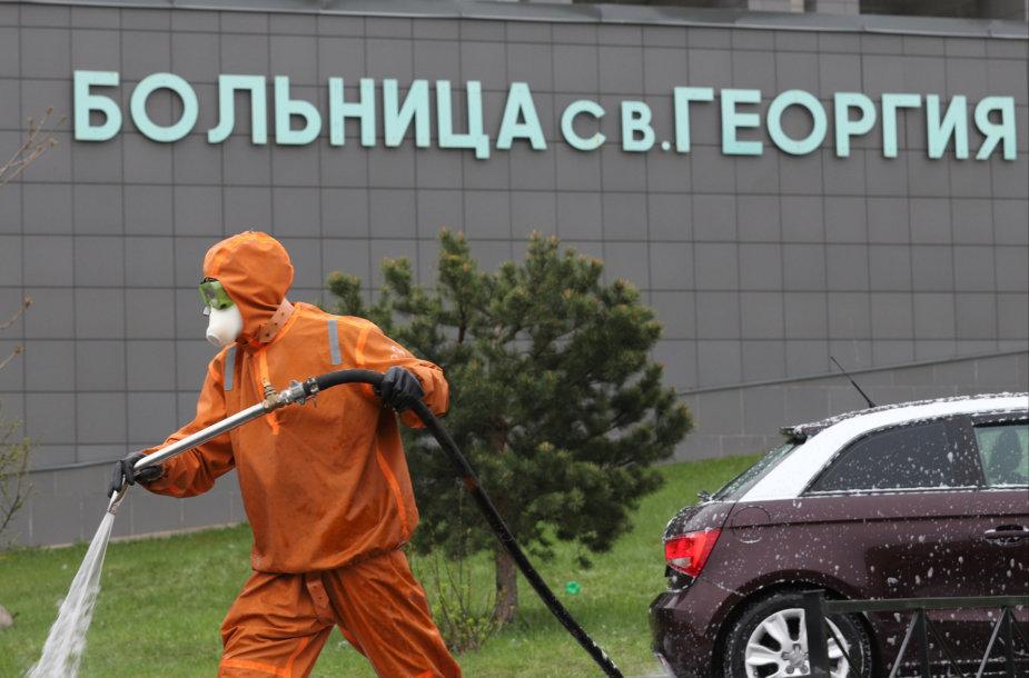 Gaisras Šv. Jurgio ligoninėje Sankt Peterburge