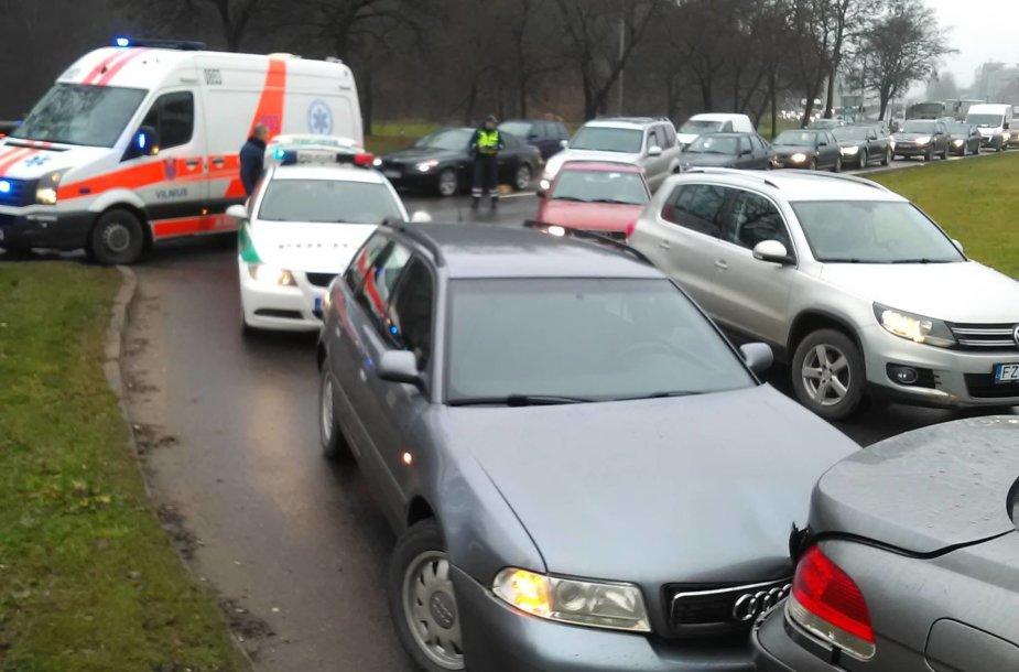 Masinė avarija Vilniuje