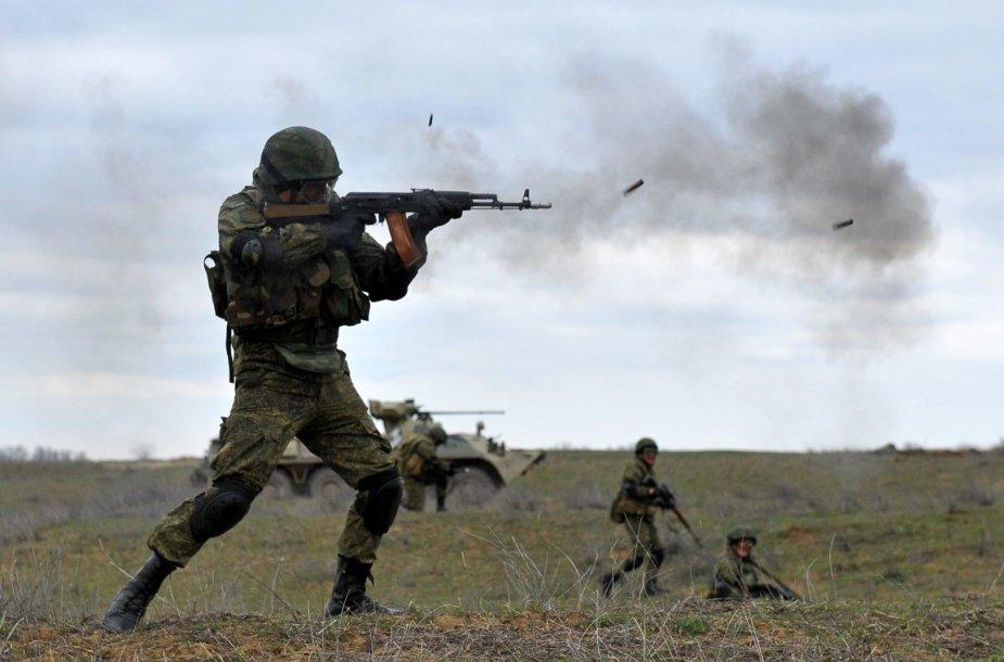 Rusijos kariai per pratybas netoli Čečėnijos