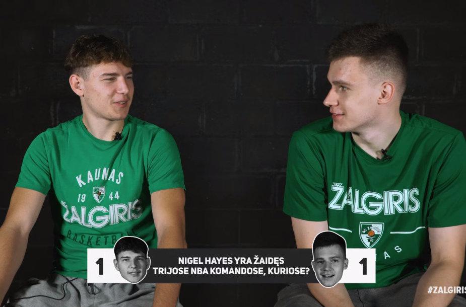 Rokas Jokubaitis ir Marekas Blaževičius