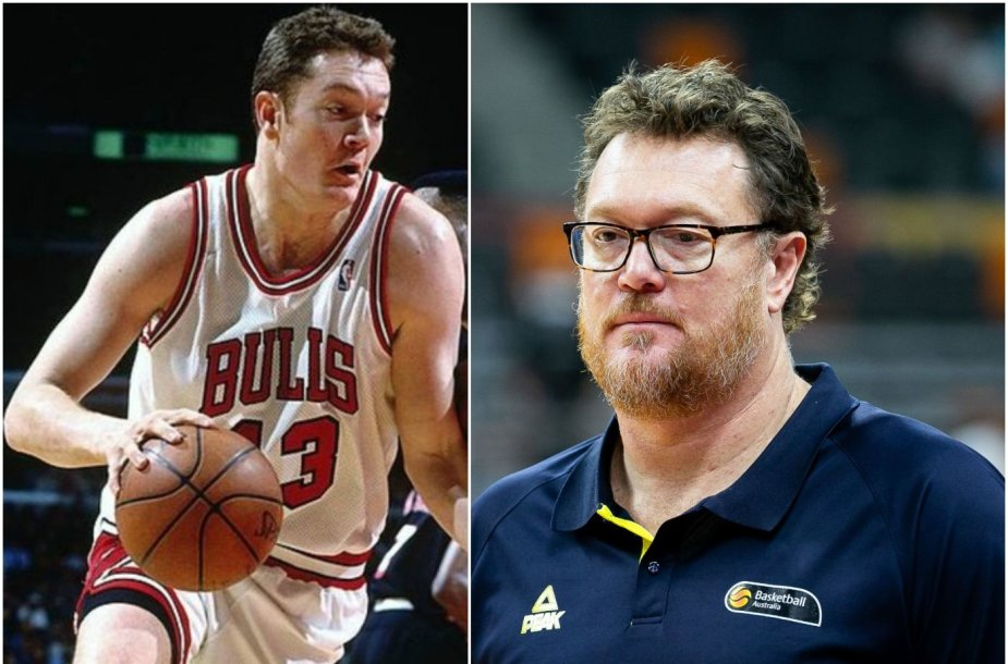 """Australijos rinktinės trenerių štabe dirbantis Lucas Longley yra laimėjęs 3 NBA titulus, kai žaidė """"Chicago Bulls""""."""
