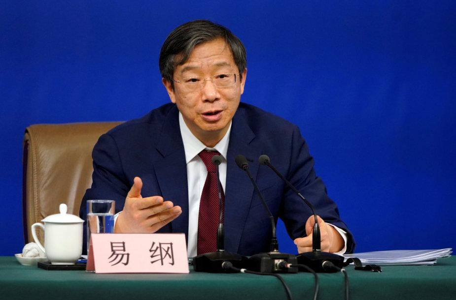 Yi Gangas, Kinijos centrinio banko vadovas