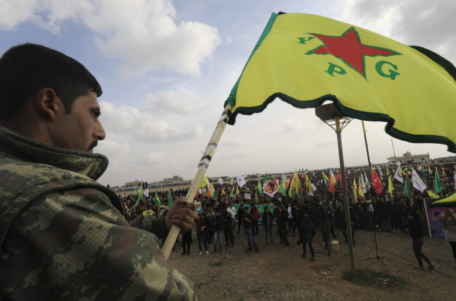 Sirijos kurdų kovotojų vadinamieji Liaudies apsaugos daliniai (YPG)