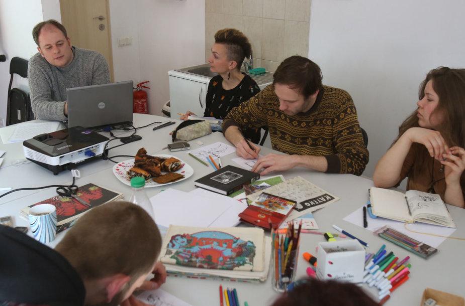 Komiksų dirbtuvės Klaipėdos kultūrų komunikacijų centre