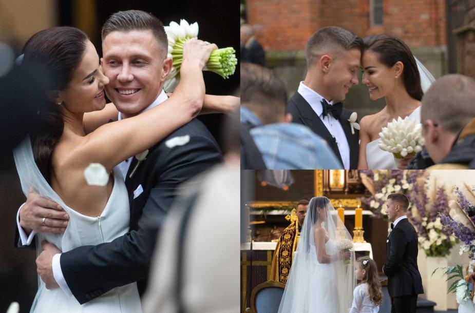Indrės Burlinskaitės ir Liudo Vaisietos vestuvių akimirka