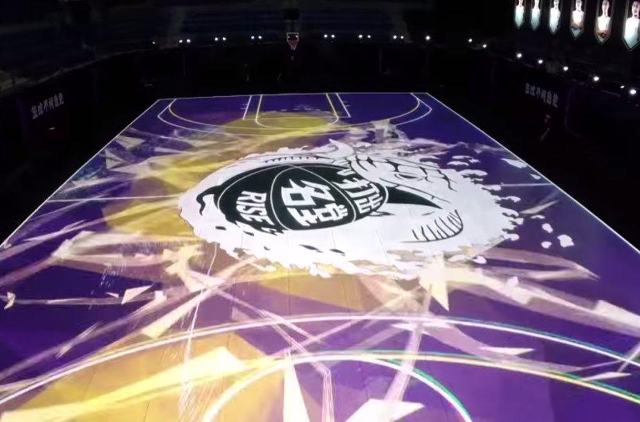 LED krepšinio aikštelė