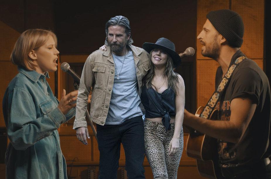 """Monika Pundziūtė-Monique ir Lady Gaga su Bradley Cooperiu filme """"Taip gimė žvaigždė"""""""