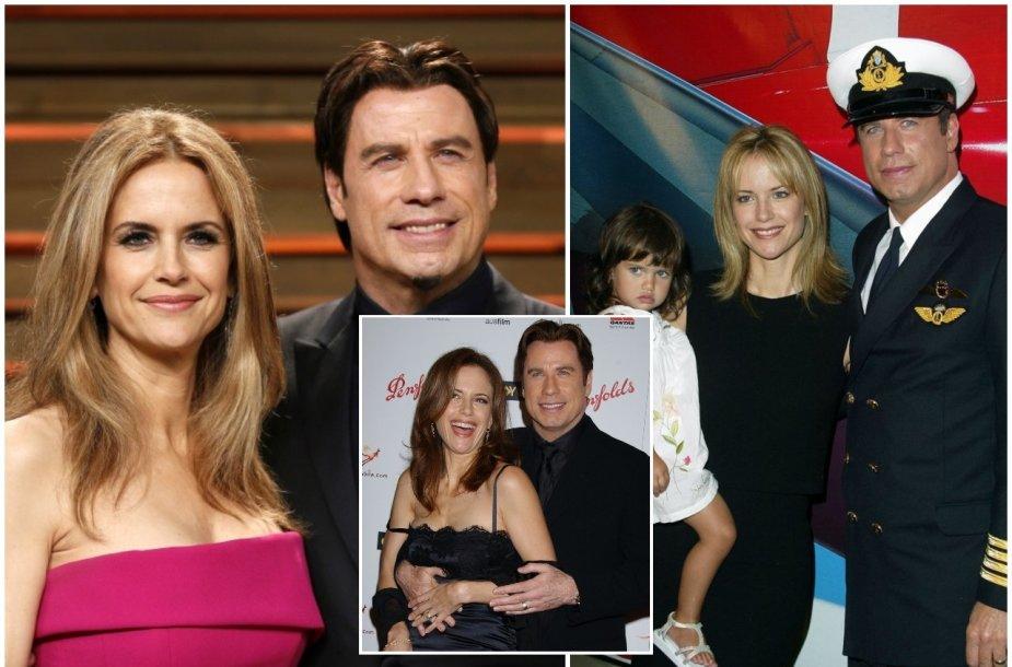 Johnas Travolta ir Kelly Preston, dukra Elle